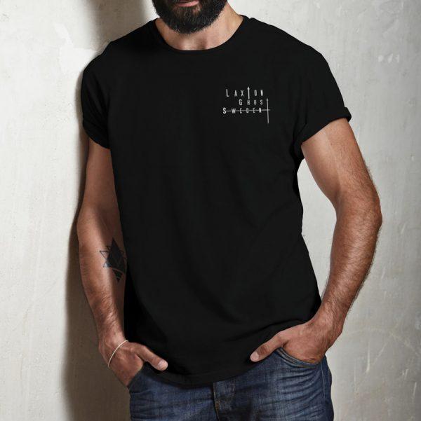 T-shirt LaxTon Herr Svart Front