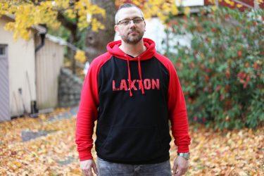LaxTon Hood Röd Svart