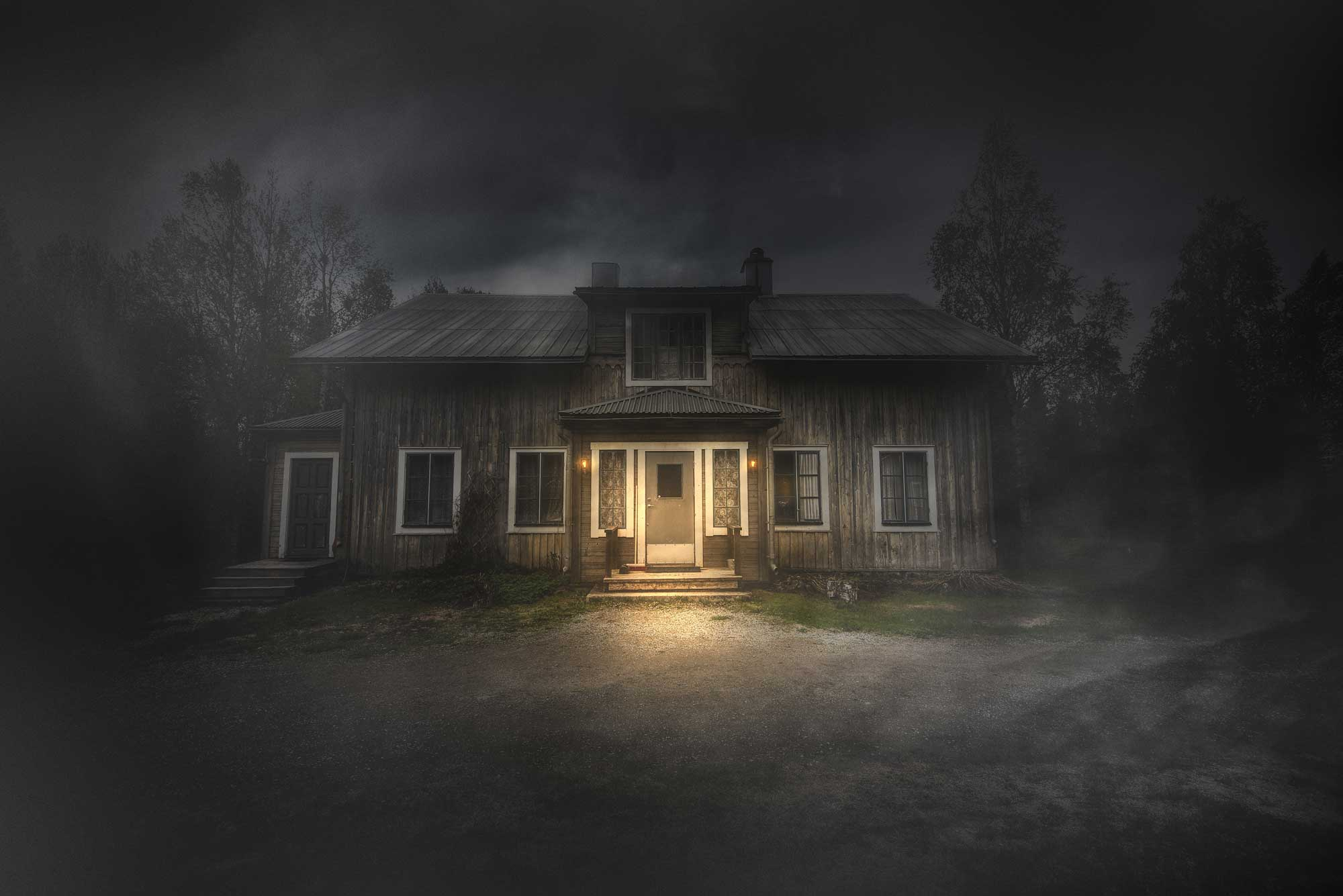 Vinn en natt i Spökprästgården